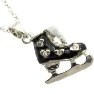 """Jewelry - Silver Ice Skating Skate Boot Necklace 16-18"""""""
